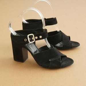 AGL Womens Two Band Heeled Sandals Size 40.5 / 10